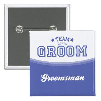 Team Groom-Groomsman Stars Button