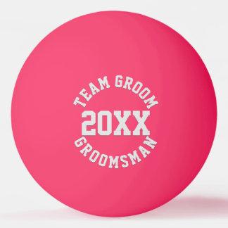 Team Groom Groomsman Wedding Year Ping Pong Ball