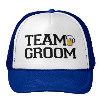 Team Groom Groomsmen beer funny hat