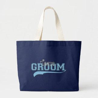 Team Groom Large Tote Bag