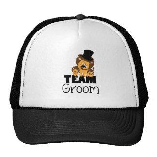 Team groom - lions trucker hats