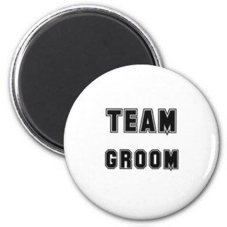 Team Groom 6 Cm Round Magnet