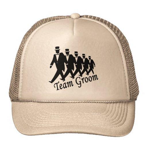 Team Groom (Men) Mesh Hats