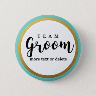 Team Groom Modern Wedding Favors for Groomsmen 6 Cm Round Badge