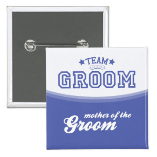 Team Groom-Mother of Groom Stars Button
