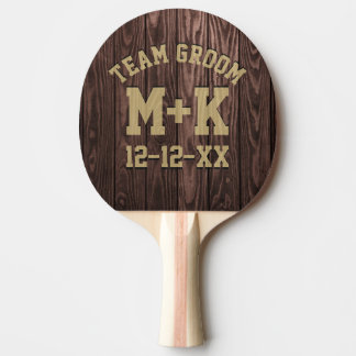 Team Groom Rustic Wedding Ping Pong Paddle