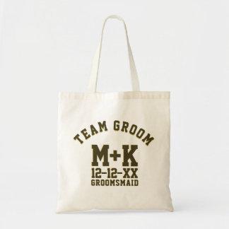 Team Groom Sporty Groomsmaid Wedding Tote Bag
