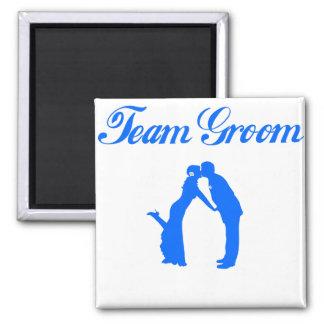 Team Groom Square Magnet