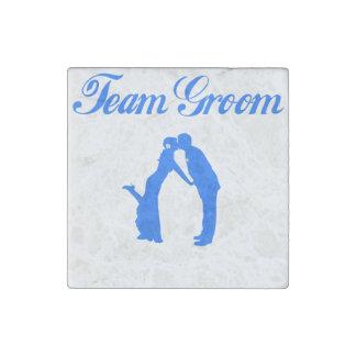 Team Groom Stone Magnet