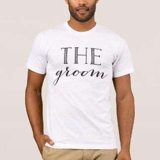 Team Groom The Groom Shirt Black Script