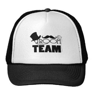 Team Groom - Top hat monocle Trucker Hat