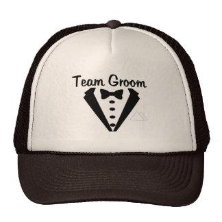 Team Groom (Tux) Mesh Hats