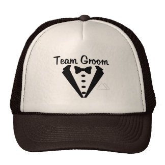 Team Groom Tux Mesh Hats