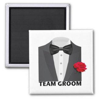 Team Groom (tux) Refrigerator Magnet