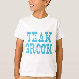 Team Groom Western Blue T-Shirt