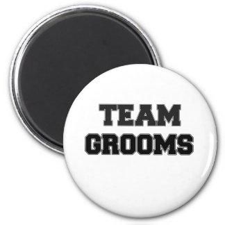 Team Grooms 6 Cm Round Magnet