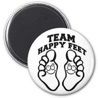 Team Happy Feet 6 Cm Round Magnet