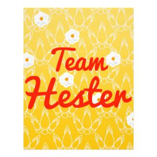 Team Hester Custom Flyer