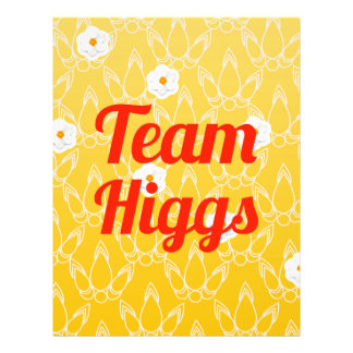 Team Higgs Personalized Flyer