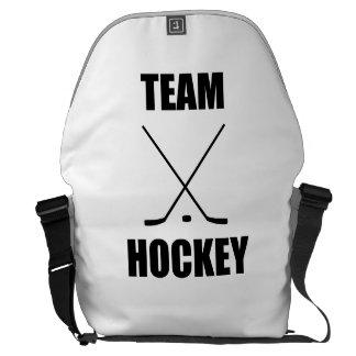 Team Hockey Messenger Bags
