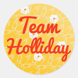 Team Holliday Round Sticker