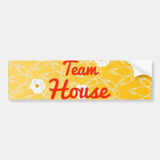 Team House Bumper Stickers