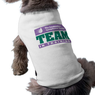 Team in Training Dog Shirt! Sleeveless Dog Shirt