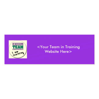 Team in Training Fundraising Business Cards