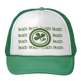 Team Irish 5 Green White Logo Cap
