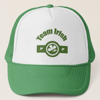 Team Irish Green White Logo Ver 2 Trucker Hat