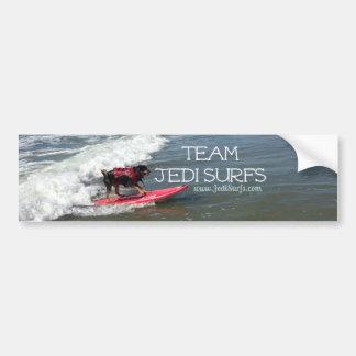 Team Jedi Surfs Line Bumper Sticker