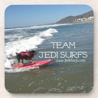 Team Jedi Surfs Line Drink Coasters