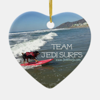Team Jedi Surfs Line Christmas Ornament