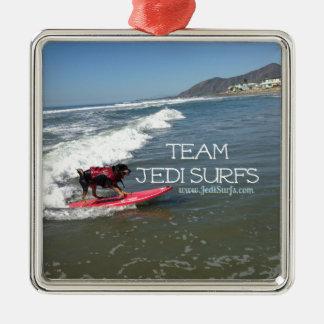 Team Jedi Surfs Line Christmas Ornaments