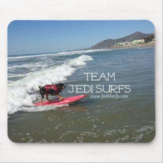 Team Jedi Surfs Line Mouse Pads