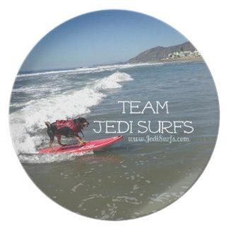 Team Jedi Surfs Line Dinner Plate