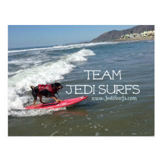 Team Jedi Surfs Line Postcards