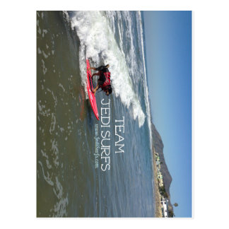 Team Jedi Surfs Line Postcard