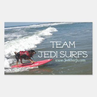 Team Jedi Surfs Line Sticker