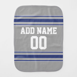 Team Jersey with Custom Name and Number Baby Burp Cloth