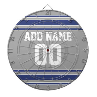 Team Jersey with Custom Name and Number Dartboard