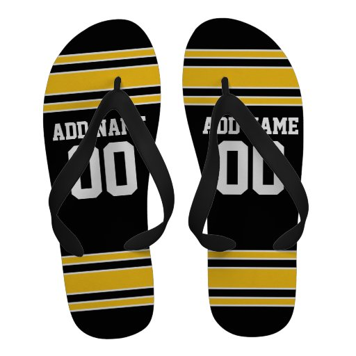 Team Jersey with Custom Name and Number Flip Flops
