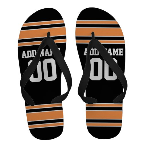Team Jersey with Custom Name and Number Flip-Flops