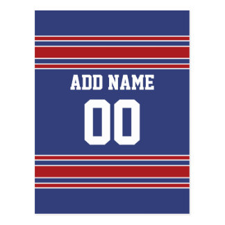 Team Jersey with Custom Name and Number Postcard