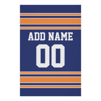 Team Jersey with Custom Name and Number Poster