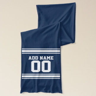 Team Jersey with Custom Name and Number Scarf