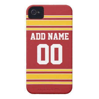 Team Jersey with Name and Number Case-Mate iPhone 4 Case