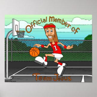 Team Jesus (Basketball) Poster