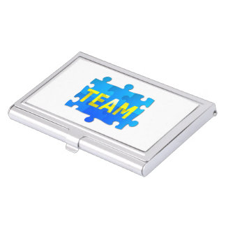 Team Jigsaw Puzzle Business Card Holder