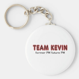 Team Kevin. Basic Round Button Key Ring